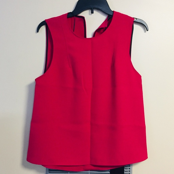 Zara Tops - NWT ZARA WOMAN RED SLEEVELESS BLOUSE, SMALL